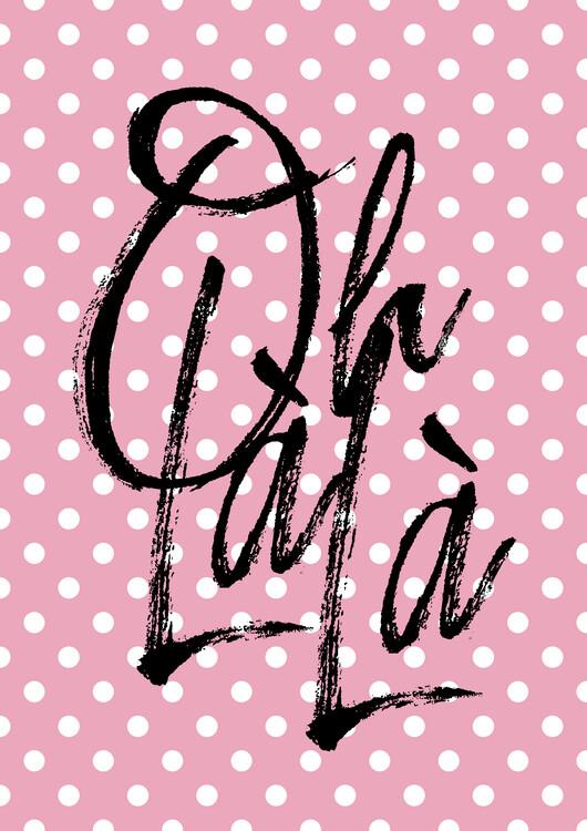 Illustration Ohlala pink