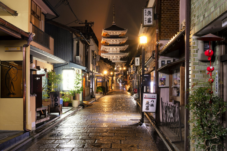 Art Photography Old Street of Kyoto