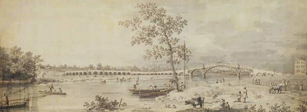 Fine Art Print Old Walton Bridge seen