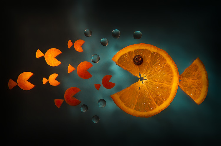 Art Photography Orange fish