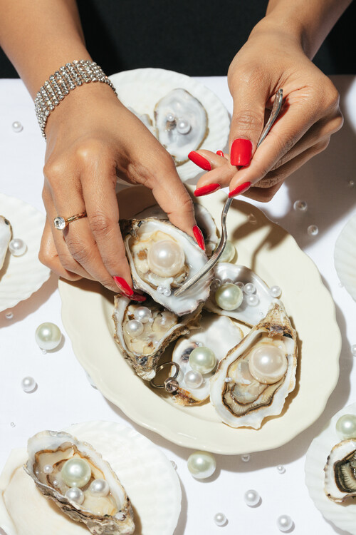 Art Photography Oyster a Pearls No 01