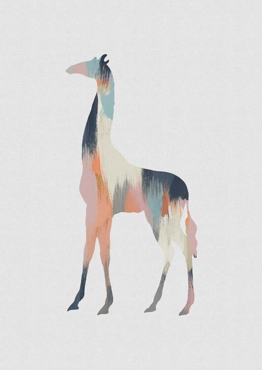 Illustration Pastel Giraffe