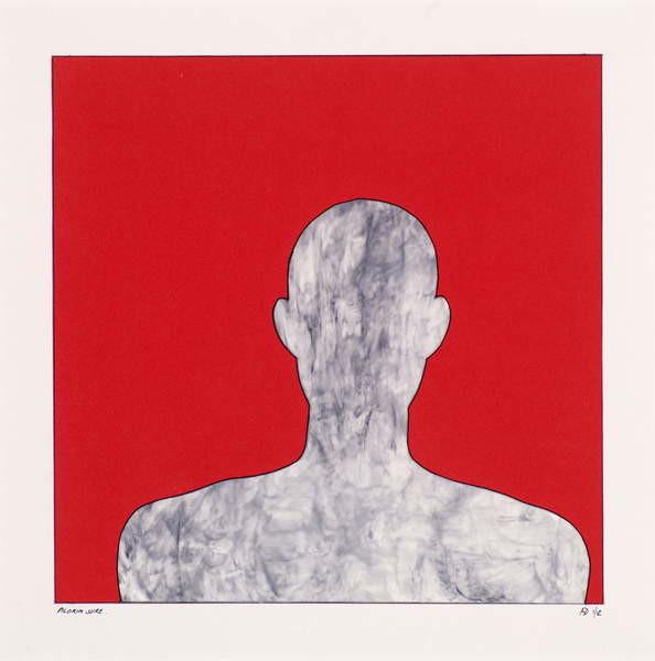 Fine Art Print Pilgrim on red