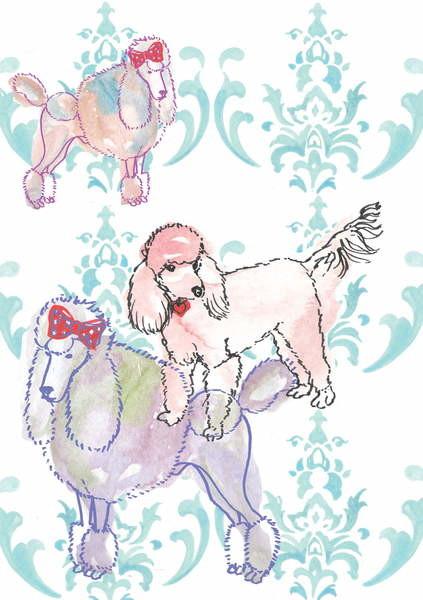 Fine Art Print Poodles, 2013