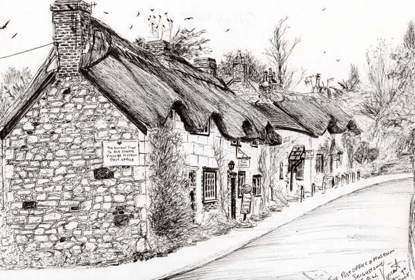 Fine Art Print Post office and museum Brighstone I.O.W., 2008,