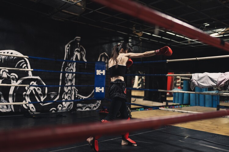 Art Photography Practicing muay thai