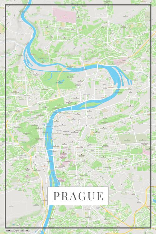 Map Prague color