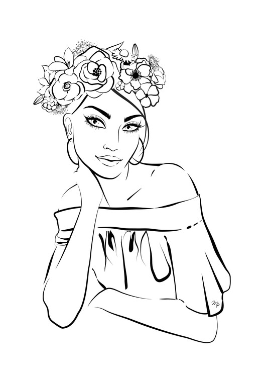 Illustration Pretty girl