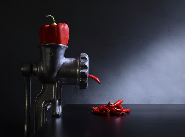 Art Photography Red and hot