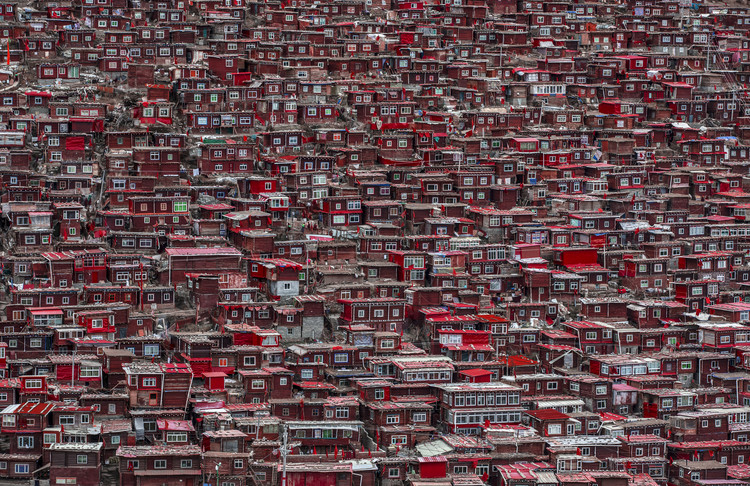Art Photography Red houses