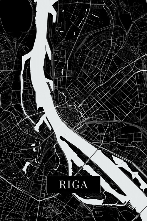 Map Riga black