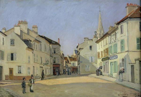 Fine Art Print Rue de la Chaussee at Argenteuil, 1872