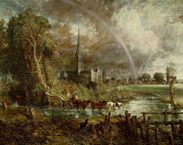 Fine Art Print Salisbury Cathedral From the Meadows, 1831