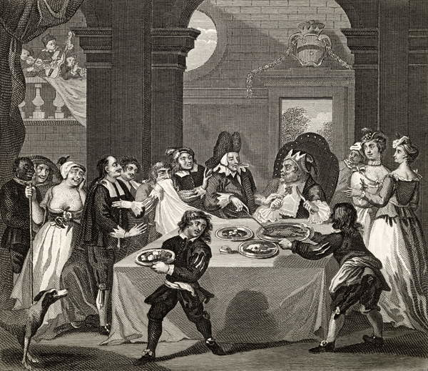 Fine Art Print Sancho at the Feast Starved by his Physician,