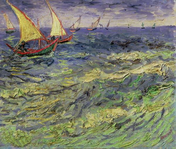Fine Art Print Seascape at Saintes-Maries  1888