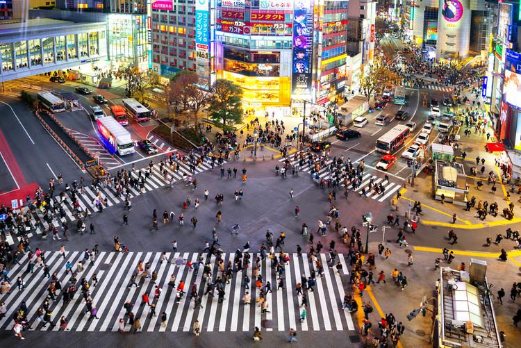Art Photography Shibuya Crossing Tokyo