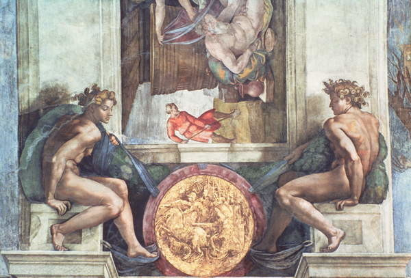Fine Art Print Sistine Chapel Ceiling: Ignudi