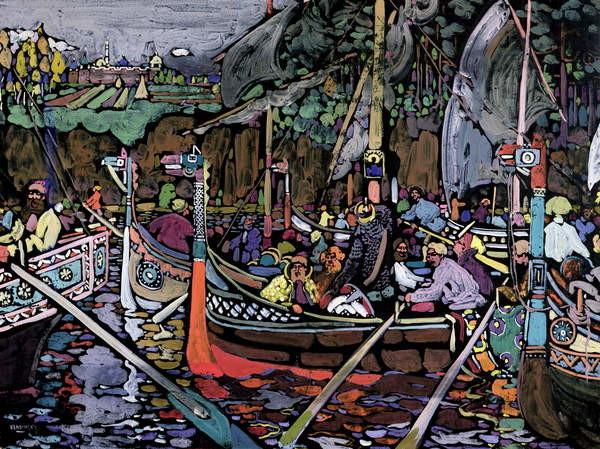 Fine Art Print Song of the Volga, 1906