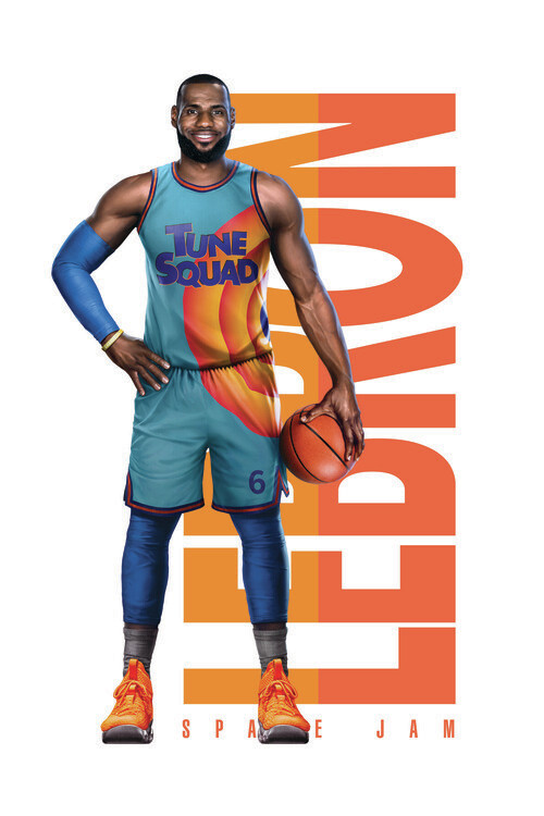 Poster Space Jam 2 - LeBron text