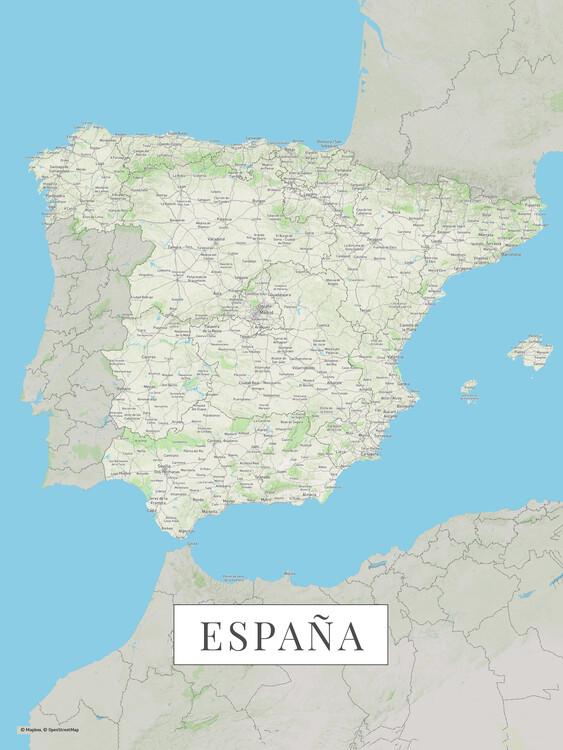 Map Spain color