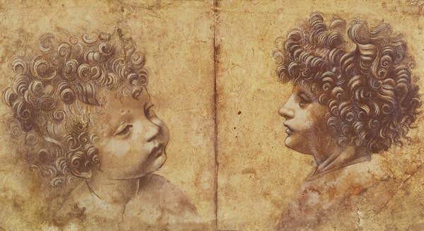 Fine Art Print Study of a child's head