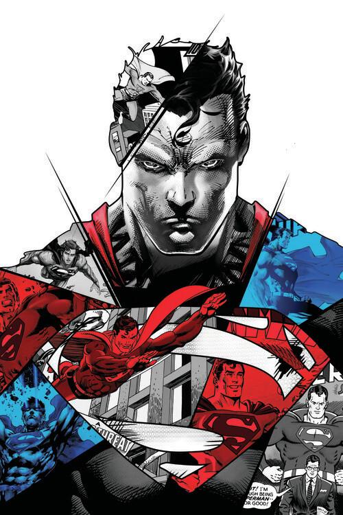 Art Poster Superman - Split