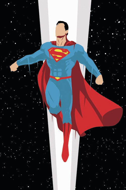 Art Poster Superman - Super Charge