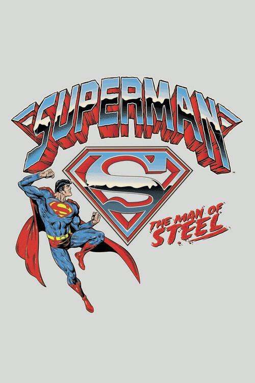 Art Poster Superman - The man of steel