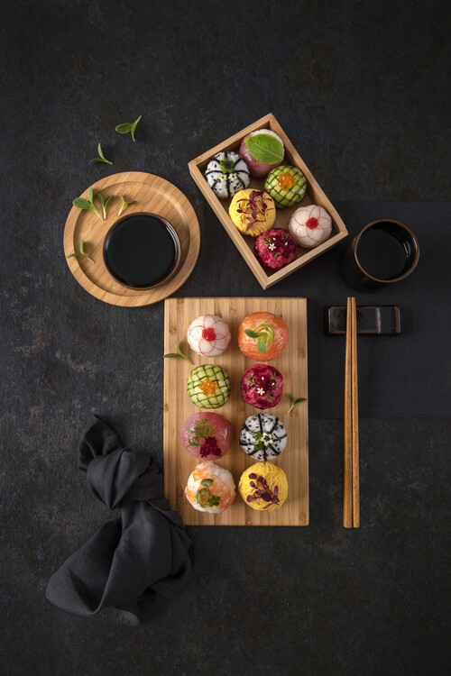 Art Photography Temari sushi