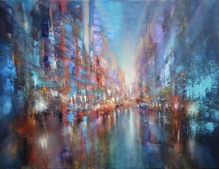 Illustration The blue city