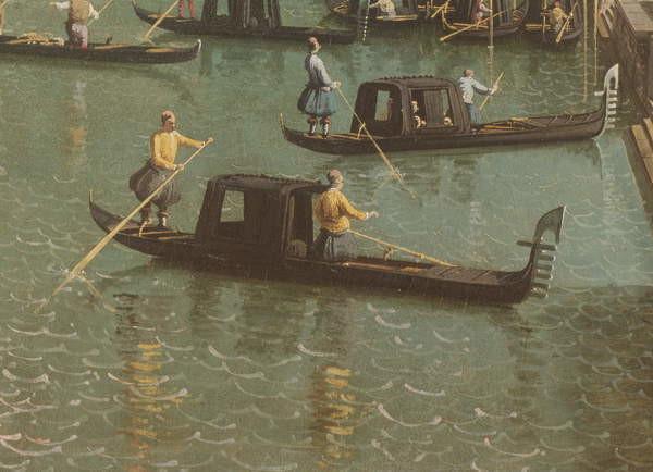 Fine Art Print The Entrance to the Grand Canal and the church of Santa Maria della Salute, Venice