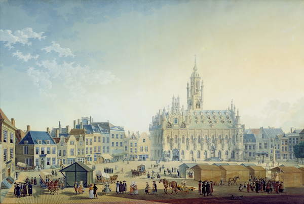 The Main Square Middelburg 1812 Reproductions Of Famous Paintings For Your Wall