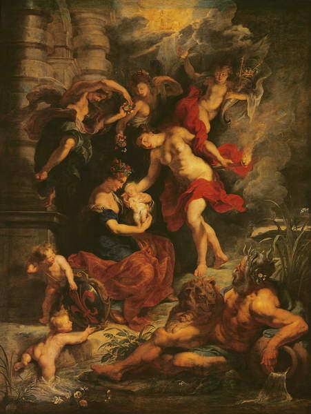 Fine Art Print The Medici Cycle: The Birth of Marie de Medici