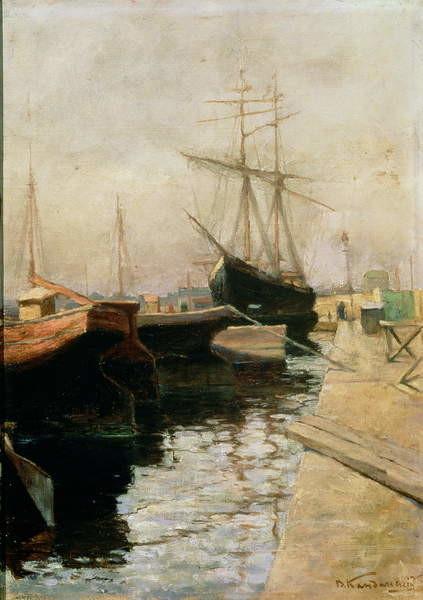 Fine Art Print The Port of Odessa, 1900