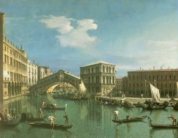 Fine Art Print The Rialto Bridge, Venice