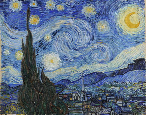 Taidejuliste The Starry Night, June 1889 (oil on canvas)