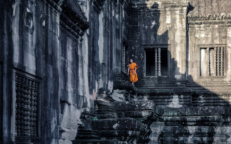 Art Photography The young monk