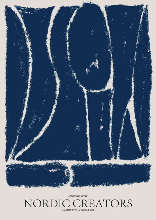 Illustration Things fall apart - Blue