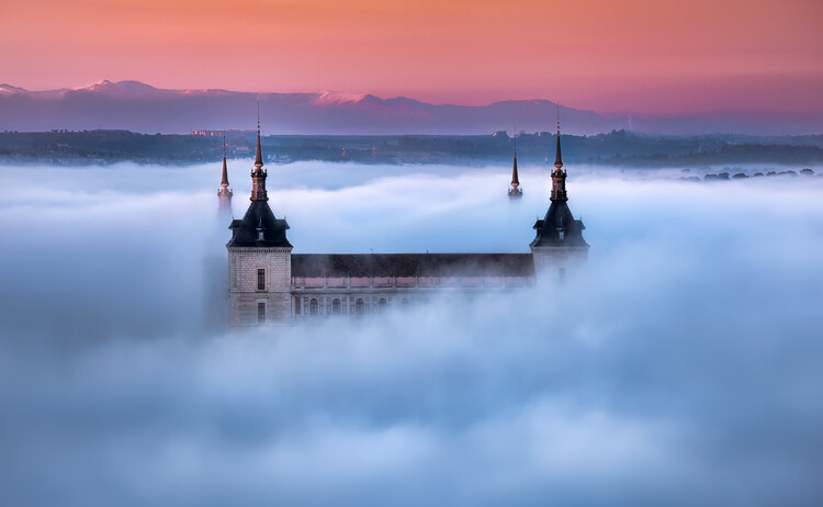 Art Photography Toledo City Foggy Sunset