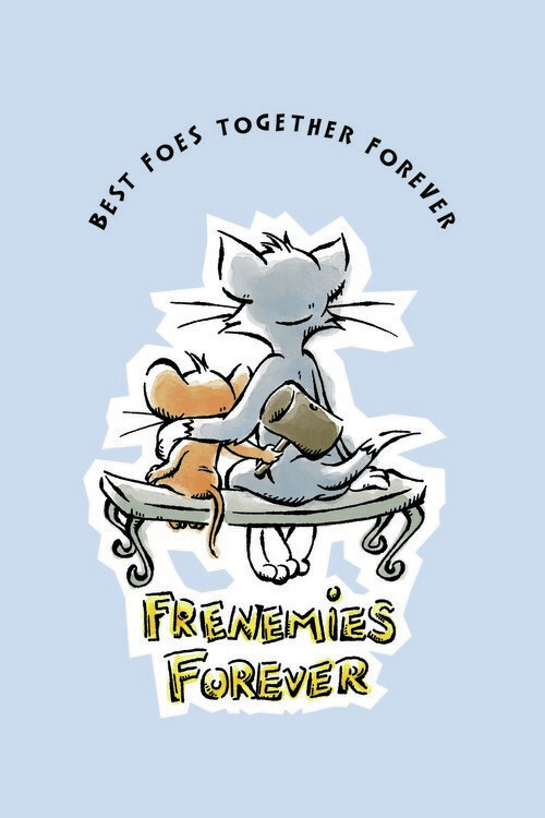 Art Poster Tom and Jerry - Frenemies Forever