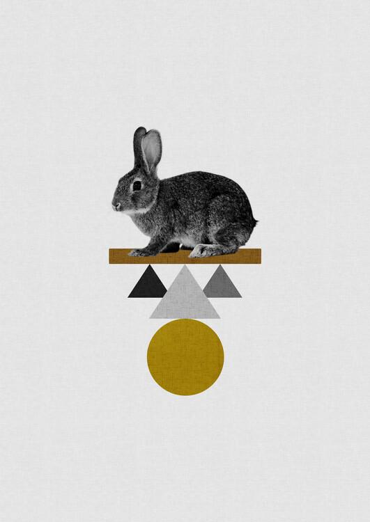 Illustration Tribal Rabbit