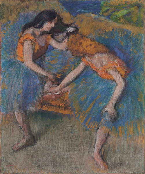 Fine Art Print Two Dancers with Yellow Corsages, c.1902