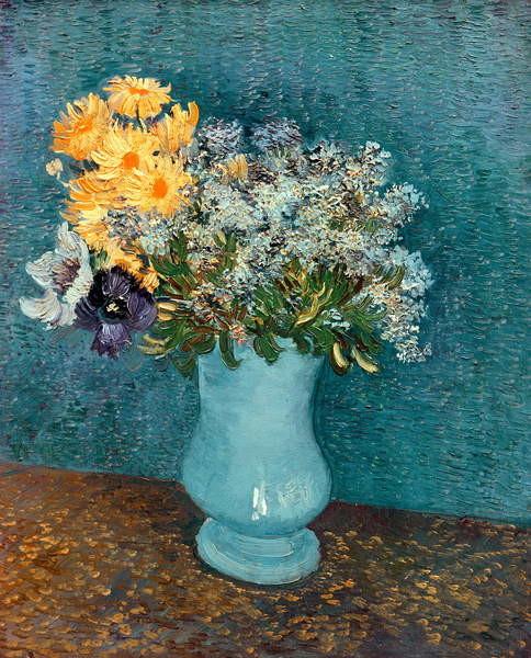 Fine Art Print Vase of Flowers, 1887