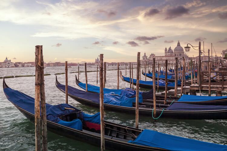 Art Photography VENICE Gondolas & Santa Maria della Salute