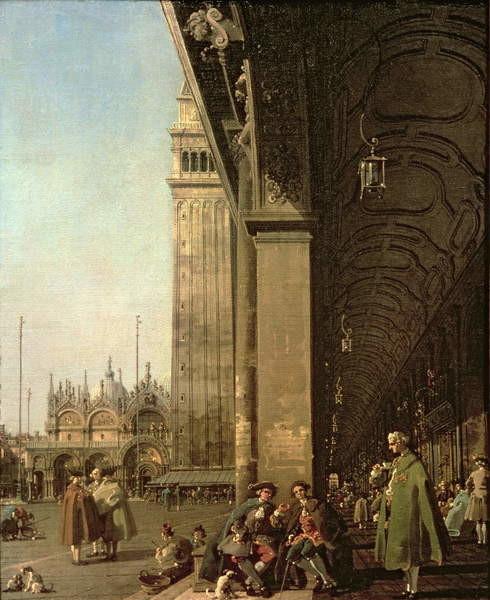 Fine Art Print Venice: Piazza di San Marco and the Colonnade of the Procuratie Nuove