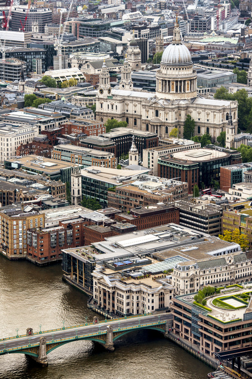 Art Photography View of City of London with St. Paul's Cathedral