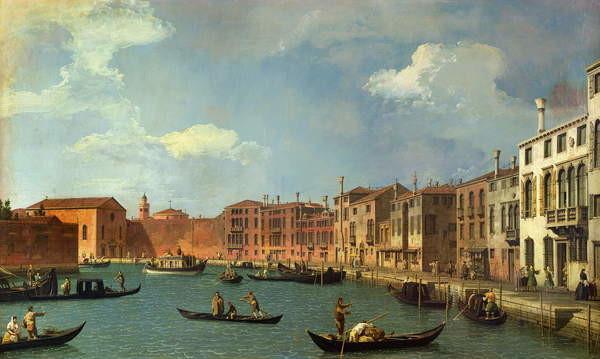 Fine Art Print View of the Canal of Santa Chiara, Venice