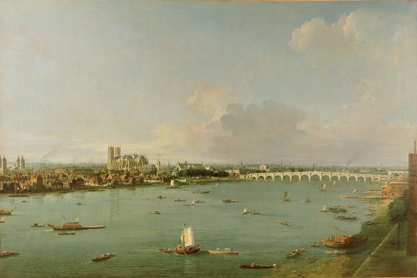 Fine Art Print View of the Thames from South of the River