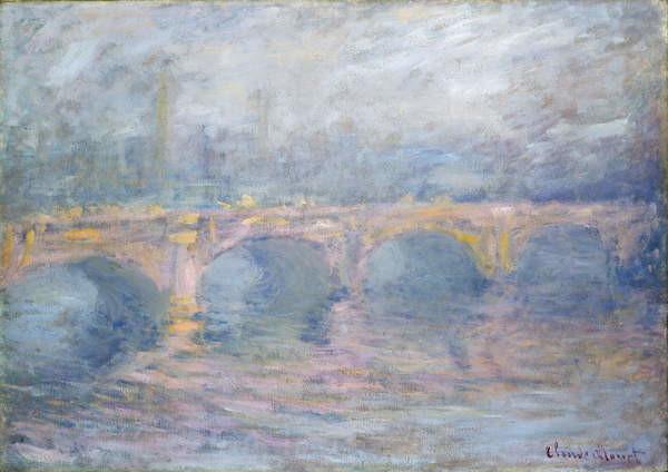 Fine Art Print Waterloo Bridge, London, at Sunset, 1904