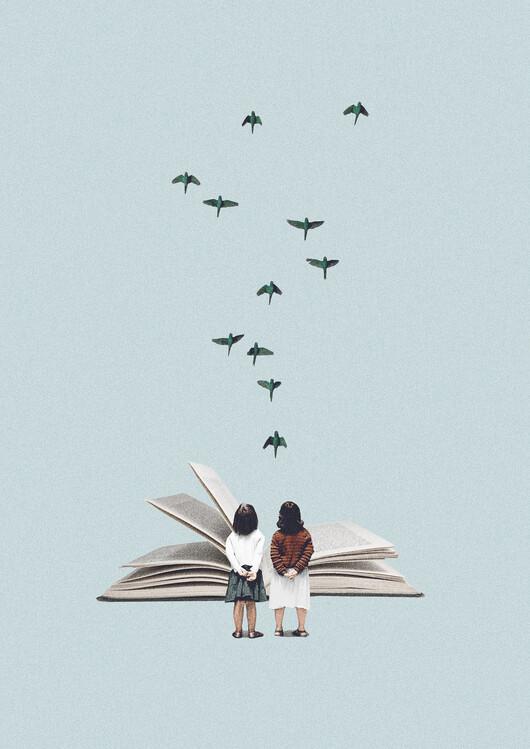 Illustration We communicate silently